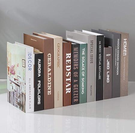 QAQ Simulación de Libros Falsos Decoraciones de Libros Adornos ...