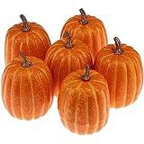 Woration High-Grade Fake Pumpkins Sets Artificial Yellow Pumpkin Decoration for Fall Harvest Halloween Thanksgiving…