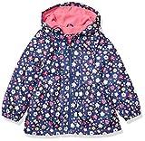 London Fog Girls' Little Midweight Fleece Lined Peplum Jacket, Navy Floral/Poppy Shock 4