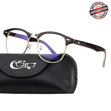5926deef41 Amazon.com  CGID CT56 Horn Rimmed Blue Light Blocking Glasses