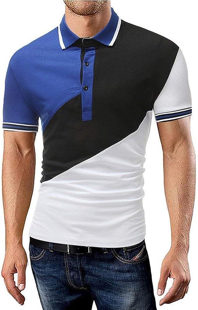 Polo Shirt Mens T Shirt Top Summer Lapel Mode De Short Marca ...