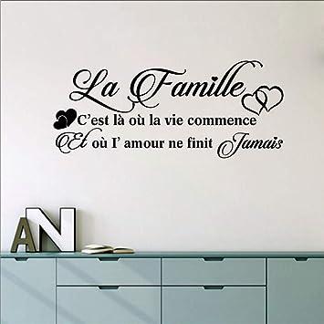 LovelyHomeWJ French La Famille Vinyl Mural Tatuajes de Pared ...