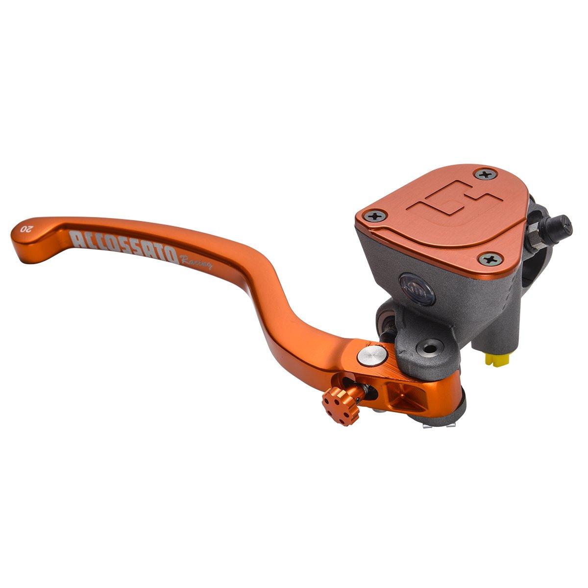ACCOSSATO(アコサット) ラジアルブレーキマスターシリンダー PK(リザーバータンク一体)モデル φ19x20 鍛造レバー オレンジ   B00VTHXLRW