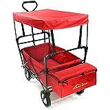 Summates Collapsible Folding Utility Wagon ,Garden cart,outdoor,shopping (Red)