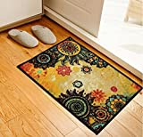 Cheap Soft Nylon Area Rugs Contemporary Living & Bedroom Indoor/ Outdoor Shag Rug 8mm Pile Height with Rubber Backing, Anti-Static, Water-Repellent Printed Rugs Bright Orange, 1.6'x5'