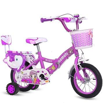 LETFF Bicicleta Plegable para niños de 18 Pulgadas para Bicicleta de bebé Macho y Hembra,