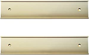 "2"" x 8"" Nameplate Holder Wall or Door 2 Pack (Yellow Gold)"
