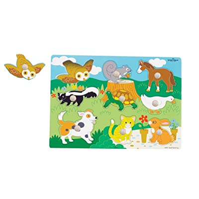 Small World Toys Ryan's Room Wooden Puzzles - Animals: Toys & Games