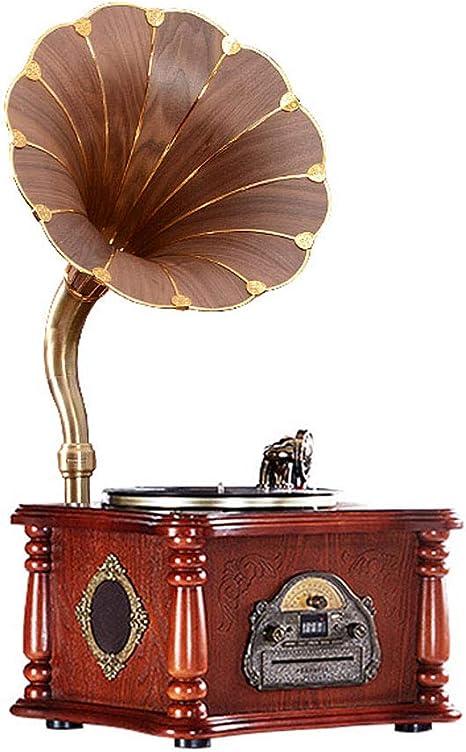 LVSSY-Gramófono con 3 Velocidades 33/45/78 Tocadiscos de Vinilo ...
