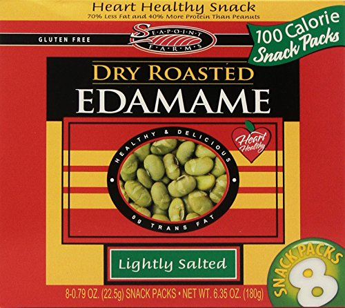 Dry Roasted Edamame Snack Packs Lightly Salted 8/.79 oz (Case of 12) by Seapoint Farms