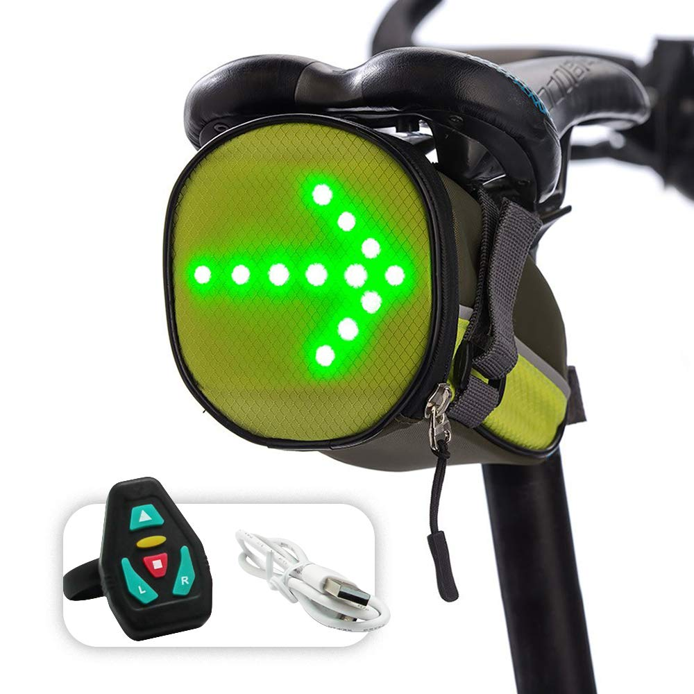 Noryer LED 自転車インジケーター シートポスト サドルバッグ シート下バッグ 反射 ウィンカー 方向指示 ワイヤレスコントローラー付き 夜間走行時の安全 B07L3FH2B8