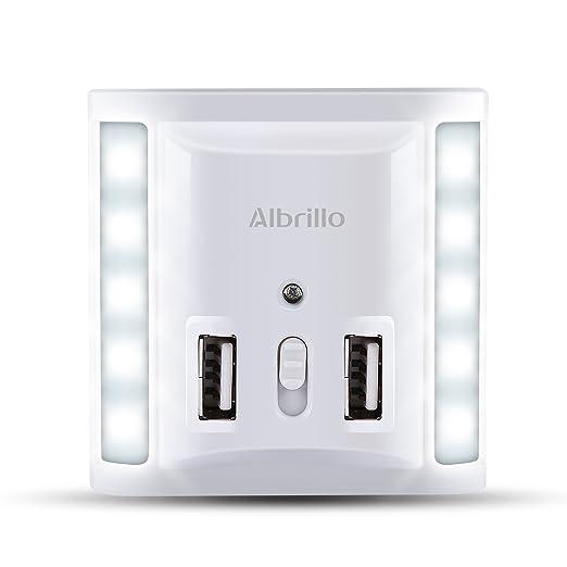Led Nachtlicht mit Dämmerungssensor USB Steckdose Nachtlampe Orientierungslicht