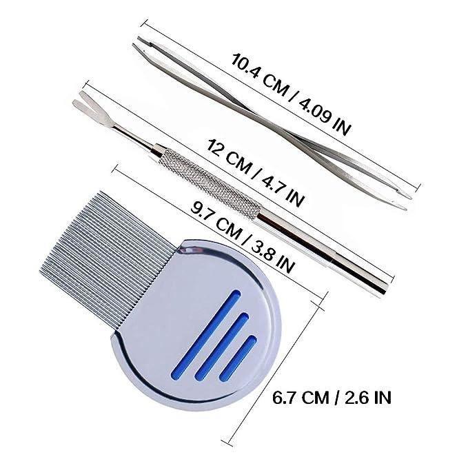 Vidillo - Juego de 3 herramientas para quitar garrapatas de acero ...