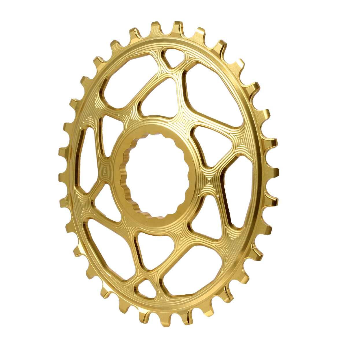絶対ブラックSpiderless Cinch DM Oval Boost Chainring、32t – ゴールド – rfovboost32gl B07C7HTPD4