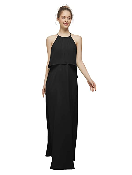 AW Long Chiffon Bridesmaid Dress Plus Size Evening Gowns ...