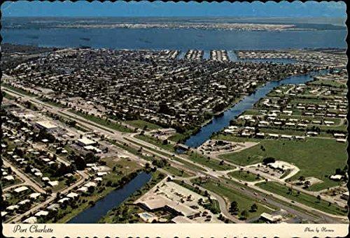 High Above Port Charlotte in Florida Port Charlotte Original Vintage Postcard
