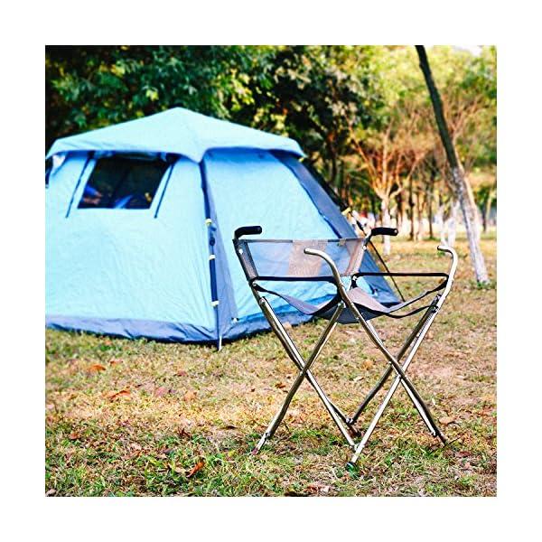 Freshore Canes And Walking Sticks Sedile Pieghevole 300lbs - Sedile Sportivo Cane 4 Sgabello Walker per Campeggio Baston con Asiento (Taglia XL Blu) 7 spesavip