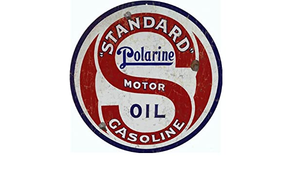 Standard Polarine  Motor Oil Gas gasoline sign ...FREE ship on any 10 signs