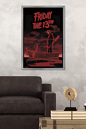 Pleasing Trends International Friday The 13Th Boat Mount Bundle Wall Poster 22 375 X 34 Multi Machost Co Dining Chair Design Ideas Machostcouk