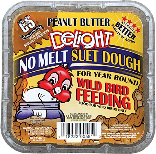 C&S 12581 Peanut Butter Delight Suet, 11.75-Ounce (Peanut Butter Bird Food)
