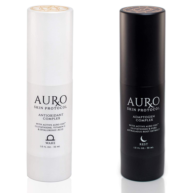 CDM product Auro Skincare | Auro Skin Protocol Wake & Rest Duo Set, Full Anti-Aging Skin Care Cream System Day & Night big image