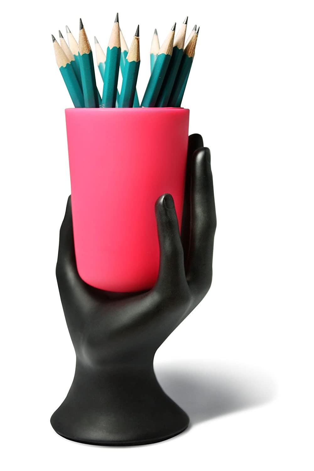Hand Cup Pen / Pencil Holder By Lil Gift (Pink) by Arad