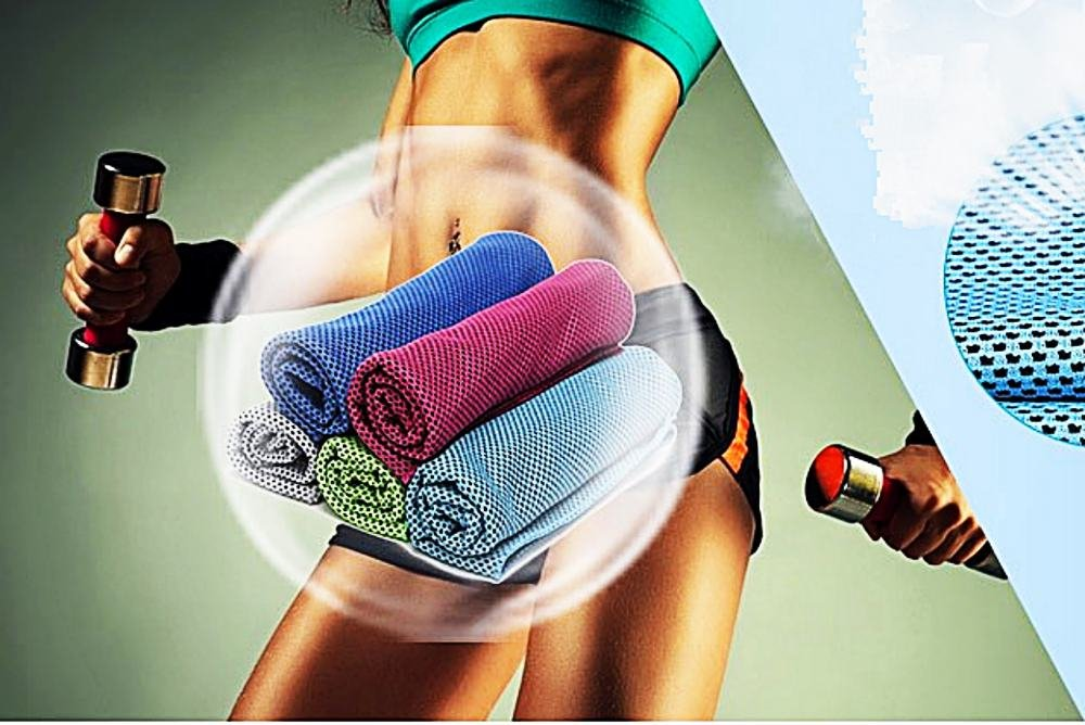 eFashion4Less 2 Item Bundle: Danskin Now Women's Bike Shorts with Cooling Relief Sport Towel (XXL, Black)
