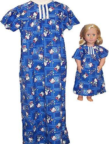 サイズ4 Matching and Girl and B00ZYZKECK サイズ4 Doll Kitty印刷Nightgown B00ZYZKECK, 博多のかくし味:3becbcb1 --- arvoreazul.com.br