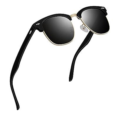 VVA Gafas de sol polarizadas clásico retro medio marco para Hombre y Mujer V1002