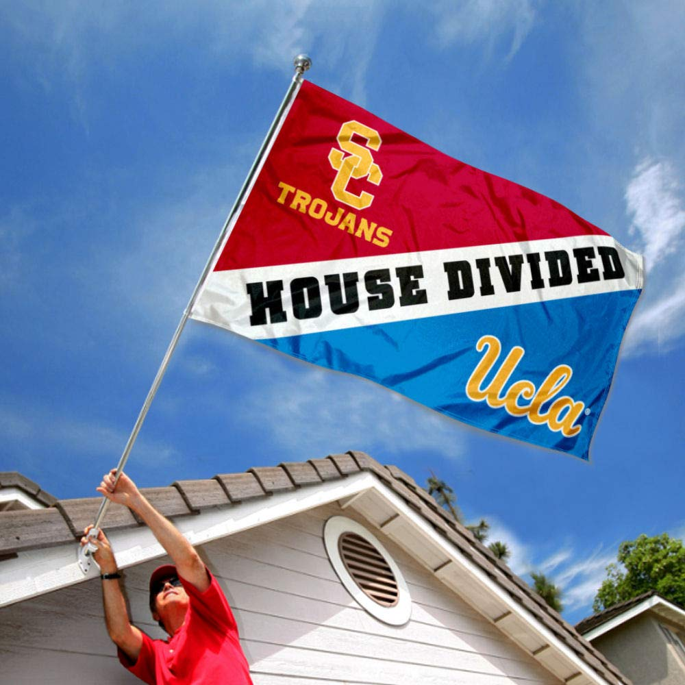 Flag for Divided House College Flags and Banners Co USC vs UCLA