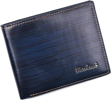 Men/'s Leather Wallet Pockets ID Credit Card Holder Clutch Bifold Purse US Ship