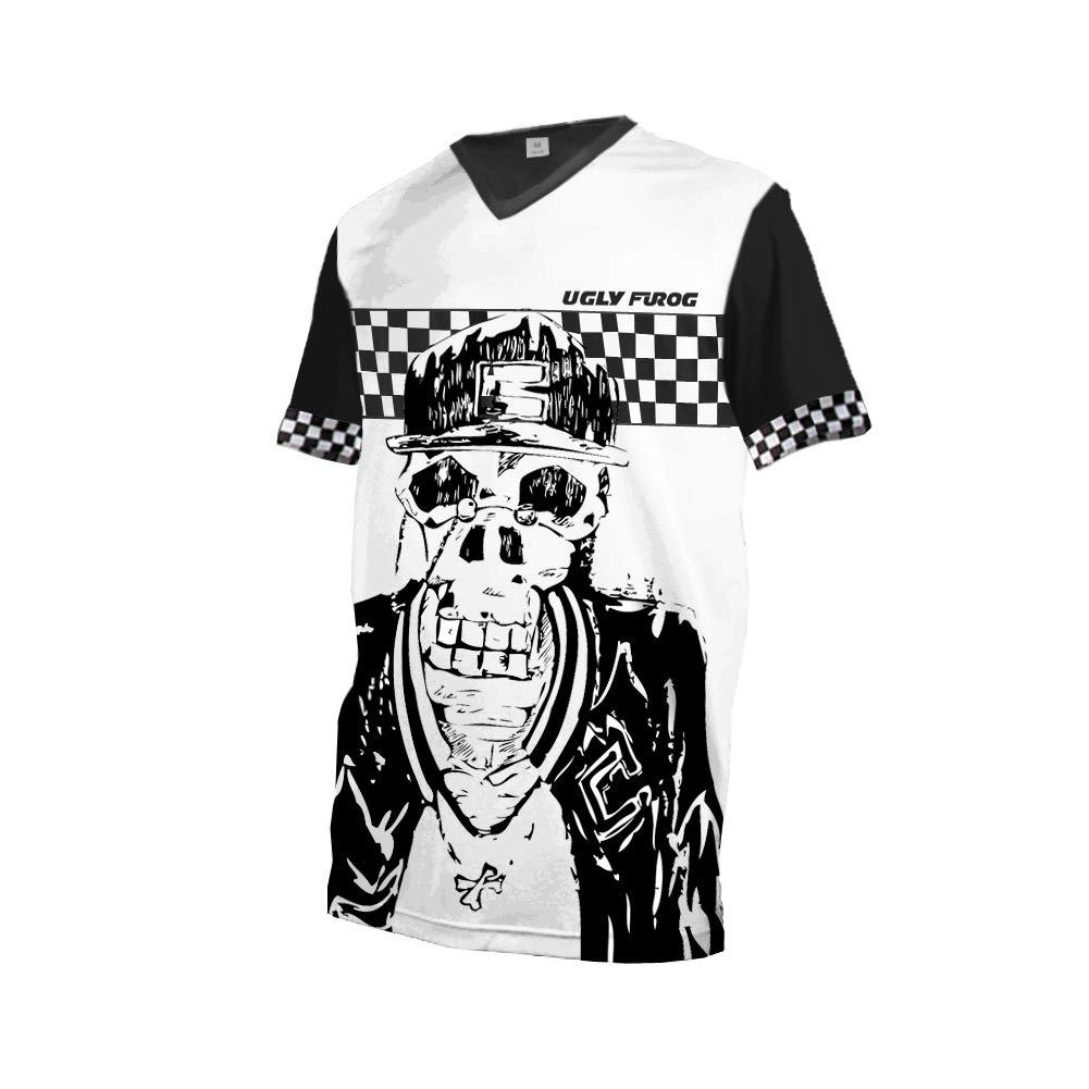 KuaiXue Uglyfrog Hip Hop Triathlon Bici Estivo Bike Wear Manica Corta Manica Lunga Magliette Uomo MTB//Downhill//Motorcycle Estate Cycling Jersey Mountain Bike Abbigliamento SJFX08M