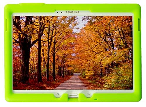 Bobj Rugged Case for Samsung Galaxy Tab S 10.5 Tablet Models SM-T800, SM-T805, SM-T807 - BobjGear Custom Fit - Patented Venting - Sound Amplification - BobjBounces Kid Friendly (Gotcha Green) (Bumper For Galaxy Tab S)