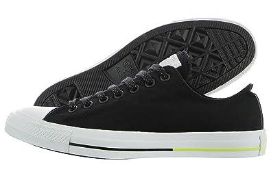Converse Chuck Taylor All Star Ox, Chaussures de Gymnastique pour Homme Noir NoirBlancélectrique, 6 D(M) US EU