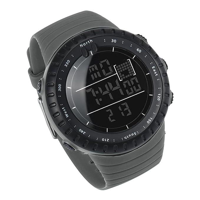 becoler Militar del ejército de Digital de la banda de goma hombres cuarzo reloj de pulsera para hombre: Amazon.es: Relojes