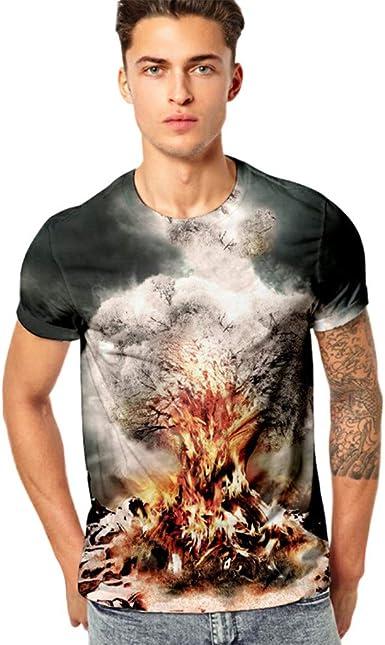 Men 3D Prints Tops Cool Casual Pullover Short Sleeve T-shirt Crew Neck XL-4XL