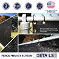 Windscreen4less Heavy Duty Privacy Screen Fence in Color Solid Black 8' x 50' Brass Grommets w/3-Year Warranty 130 GSM (Customized Sizes Available) from Windscreen4less