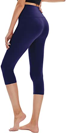 High Waist Leggings Opaque Slim Regular & Plus Size Women 7 Length Elastic Buttery Soft Classic Yoga Pants