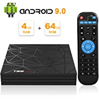 Android 9.0 TV Box, T95 Max Smart TV Box with 4GB RAM 64GB ROM Allwinner H6 Quad-Core Cortex-A53 2.4GHz WiFi Supports 6K 4K 2K H.265 Output 100M LAN Enternet USB 3.0 Smart Set Top Box