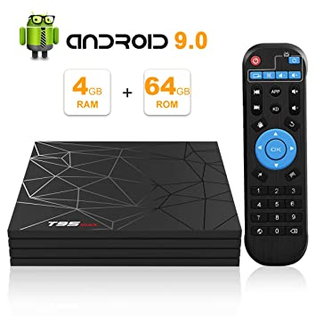 Android 9 0 TV Box, T95 Max Smart TV Box with 4GB RAM 64GB ROM Allwinner H6  Quad-Core Cortex-A53 2 4GHz WiFi Supports 6K 4K 2K H 265 Output 100M LAN