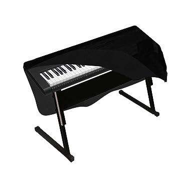 uarter Piano – Protector contra el polvo con cordón de terciopelo, estirable para teclado 88