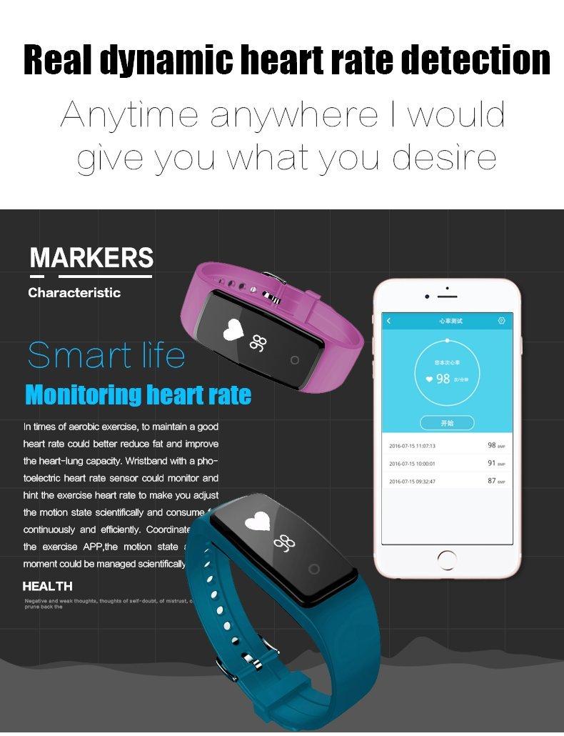 Pulsera inteligente, reloj inteligente Bluetooth rastreador de ...