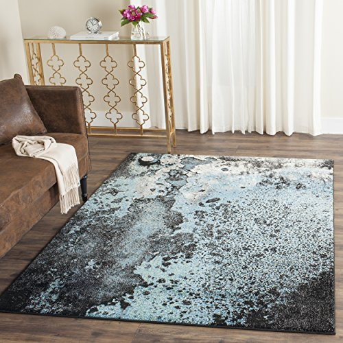 Safavieh Glacier Collection GLA124B Abstract Blue and Multi Area Rug (8' x - Abstract Area Rug Expression