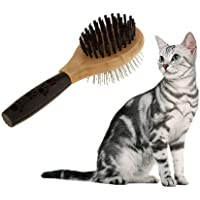 UEETEK Pet Dog Brush Comb Double Sided Wood Comb for Kitten Puppy Dog Cat Grooming Tool Fur Hair Care