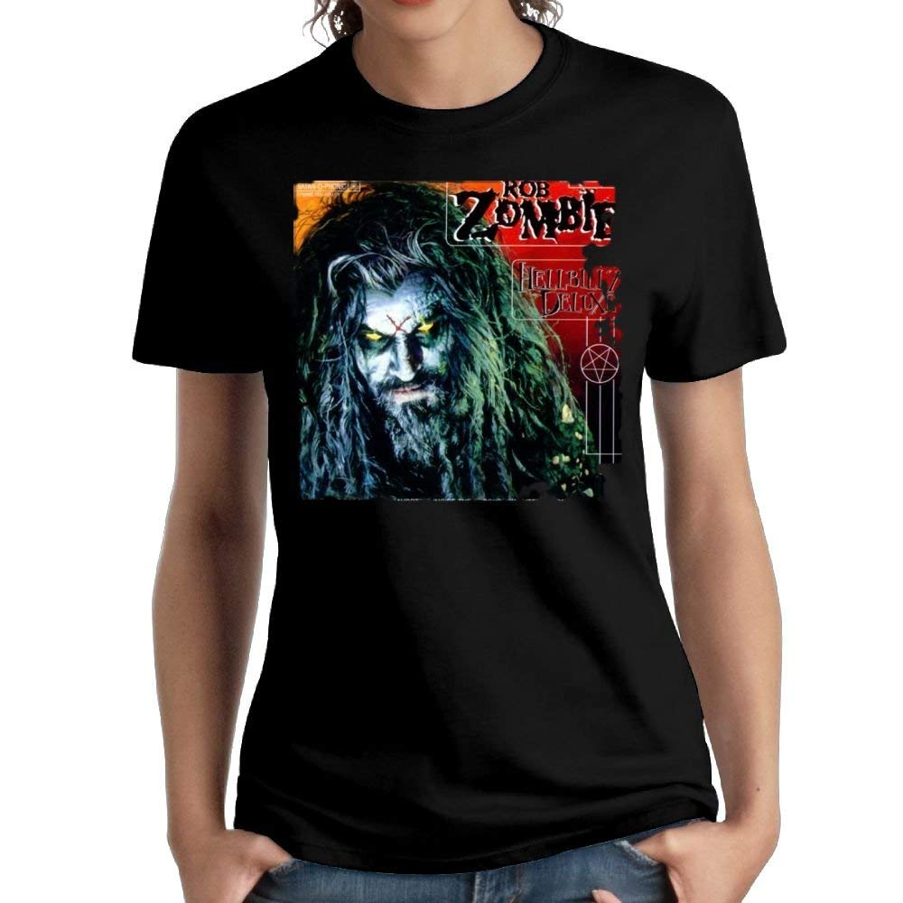 Fssatung S Rob Zombie Vintage Short Sleeve Top Tees Vintage Tee Black Shirts