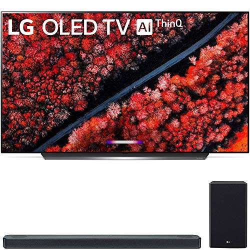 LG OLED55C9PUA 55″ C9 4K HDR Smart OLED TV w/AI ThinQ (2019 Model) with LG 3.1.2 Channel High Res Audio Sound Bar with Meridian Technology, Dolby Atmos (SL8YG)