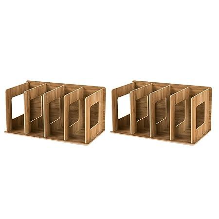 Lommer Scaffale porta CD in legno, 2 pz DIY CD/DVD supporto ...