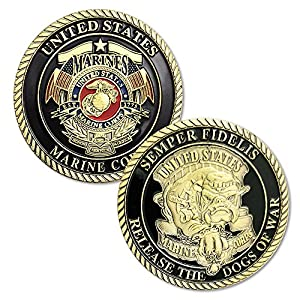 FunYan Semper Fidelis US Marine Corps Devil Dog Challenge Coins Gifts for Marines by FunYan