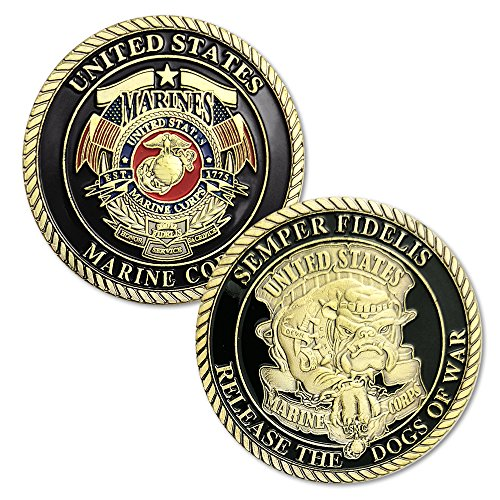 (Semper Fidelis US Marine Corps Devil Dog Challenge Coins Gifts for Man)