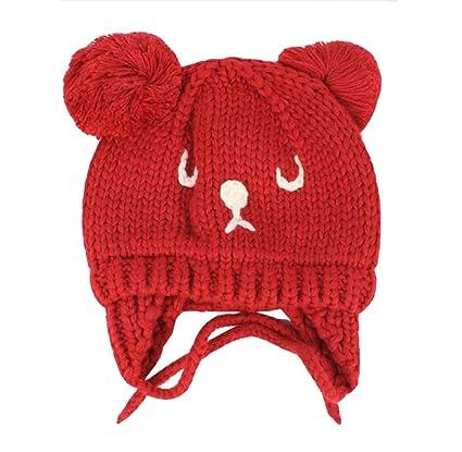ACVIP Unisex Baby Kleinkind Bären Muster Beanie Mütze Süß Winter ...